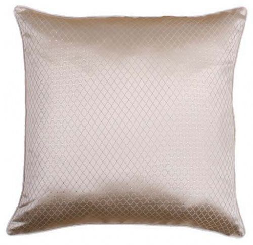 SPARKLE DIAMANTE EFFECT FAUX SILK CUSHION CREAM COLOUR